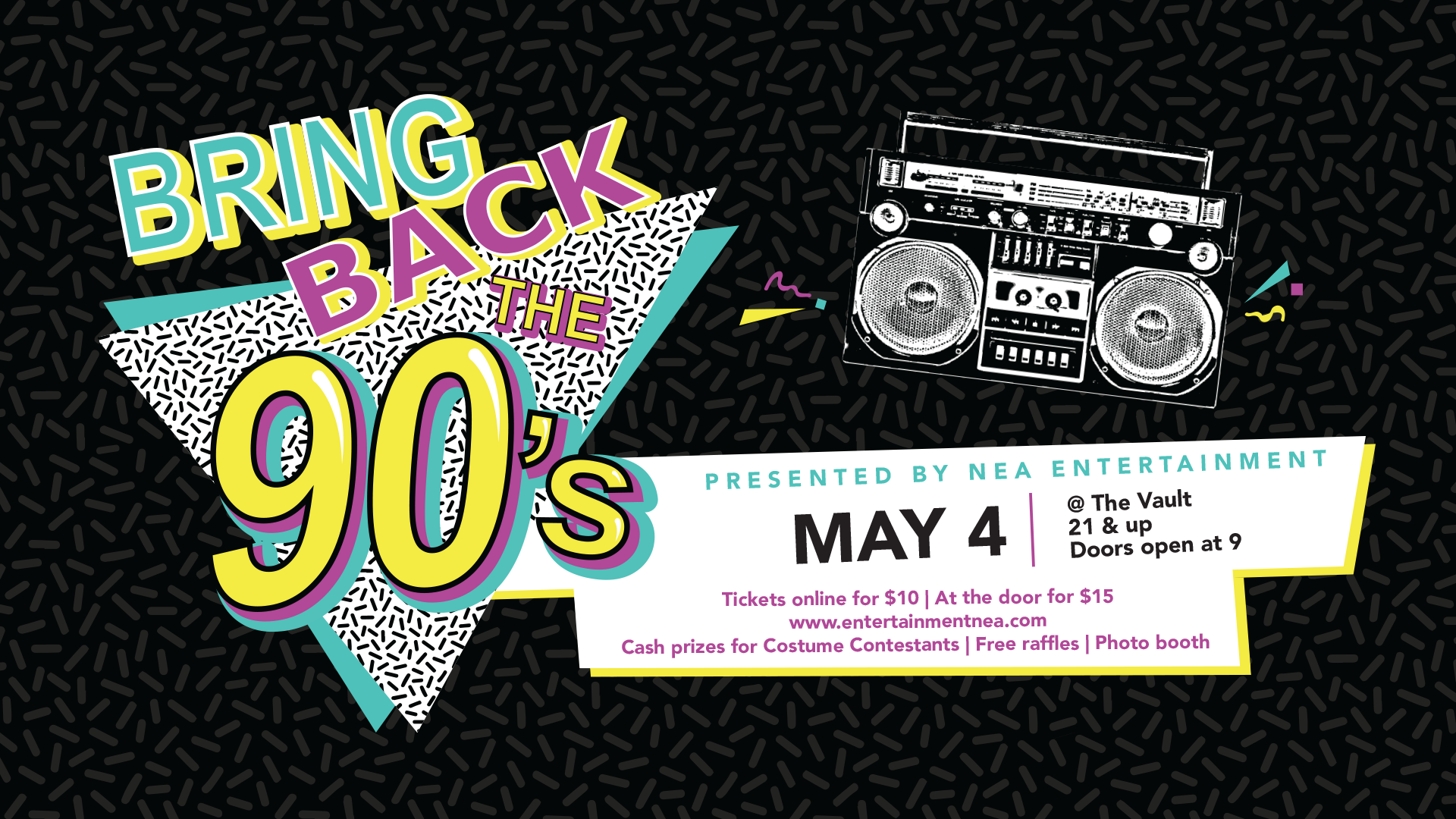Bring Back the 90's Party - NEA Entertainment