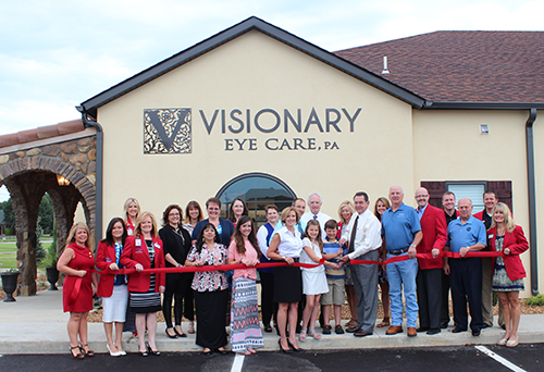 Visionary Eye Care Hosts Ribbon Cutting Jonesboro Chamber Of Commerce
